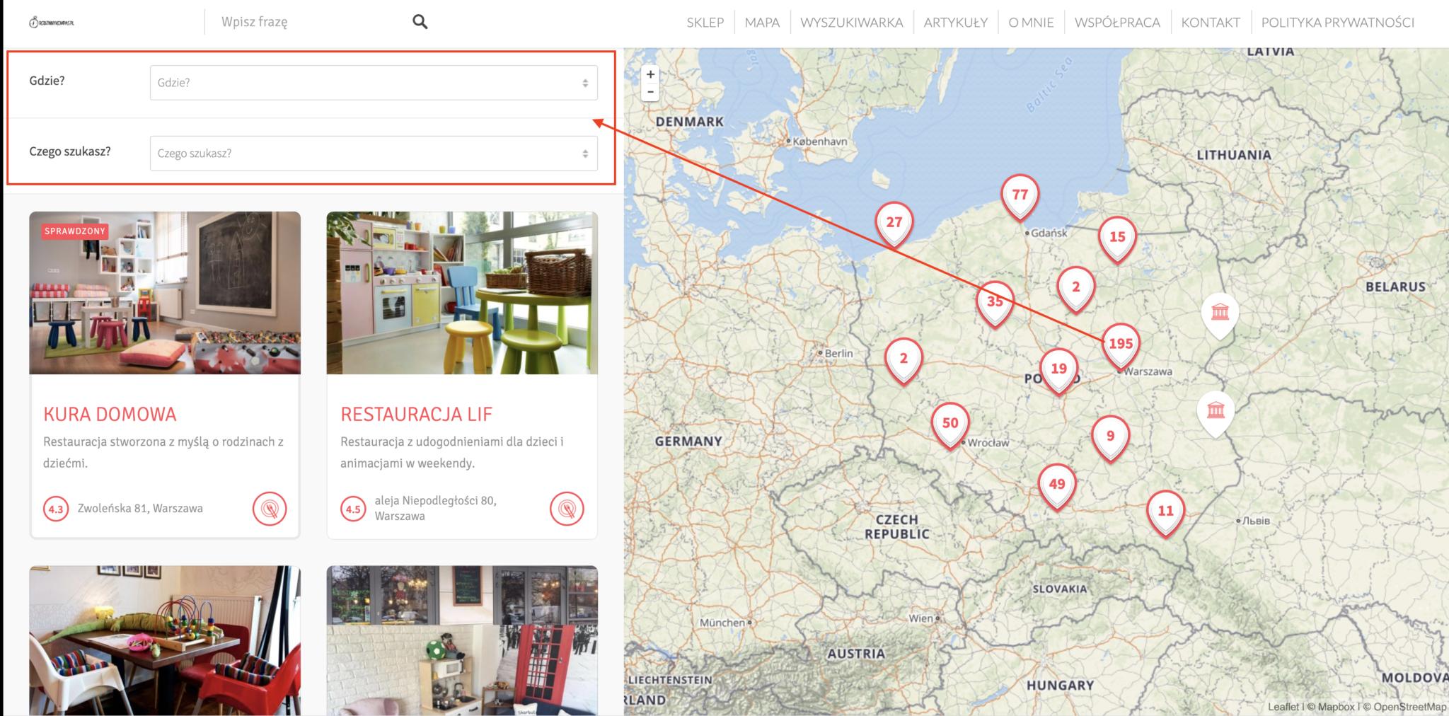 Atrakcje dla dzieci w Polsce - zobacz miejsca przyjazne dzieciom na mapie Rodzinny Kompas 3